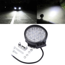 Newest Waterproof Shockproof 42W Off Road Light Round LED Work Light LED Lamp For Car Truck Vehicles Auto Boat Hot Selling(China)