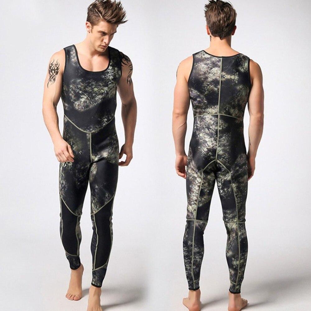 S-XXL 3mm Spearfishing Men Underwater Wetsuit Swimming wear resistant Neoprene Scuba Diving Wetsuit Split Surfing Diving Suits