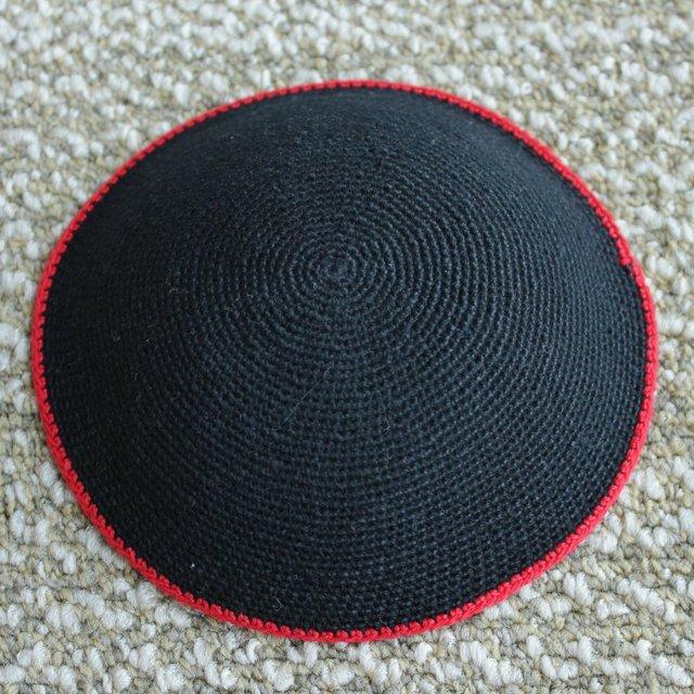 Cotton Thread Knitted Kippot Jewish Yarmulke Kippah Kippot 15cm