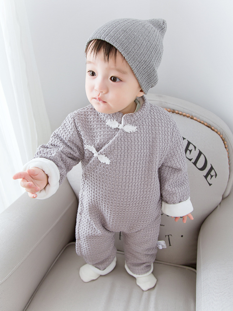 698d032b7 Designer Newborn Clothes Baby Rompers Winter Thick Climbing Clothes ...