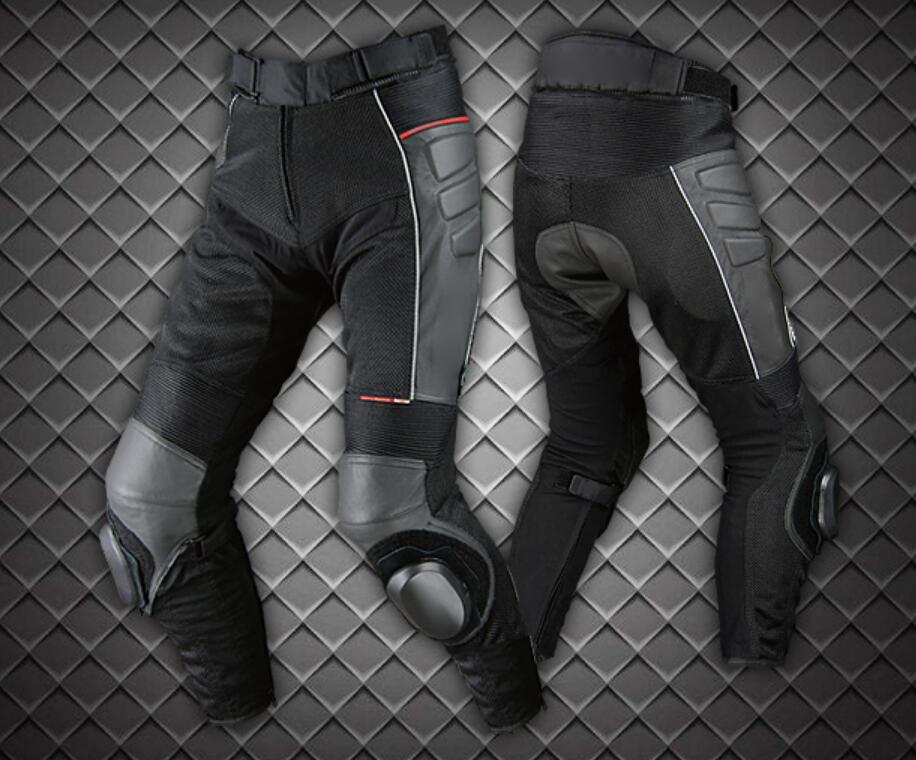 PK-709 Motorcycle Summer Style Mesh Breathable Leather Motorcycle Pants Anti-tumble Pants Do Not Include Knee Slider