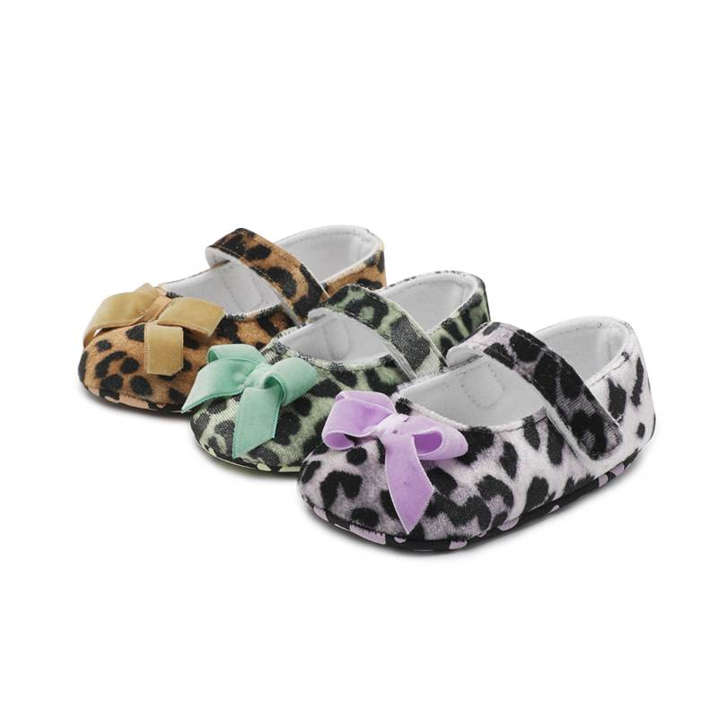 Leopard Newborn Baby Moccasin Baby Shoes First Walkers PU Leather Kids Baby Girls Shoes Crib Boy Shoes Hook & Loop Prewalkers