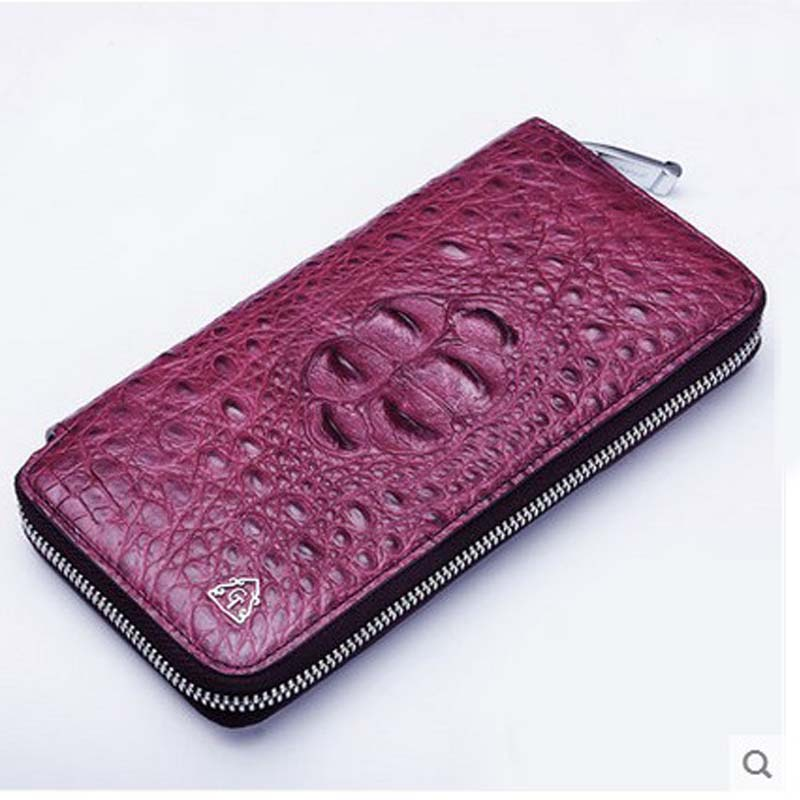 2018 gete  new real crocodile skin women wallet long zipper women purse women bag Thai crocodile leather bag yuanyu new crocodile wallet alligatorreal leather women bag real crocodile leather women purse women clutches