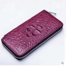 2018 gete new real crocodile skin women wallet long zipper women purse women bag Thai crocodile