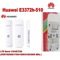 Huawei E3372h-510 LTE Band 1/2/4/5/7/28 FDD700/850/1700/1900/2100/2600 MHz 4 Gam Modem