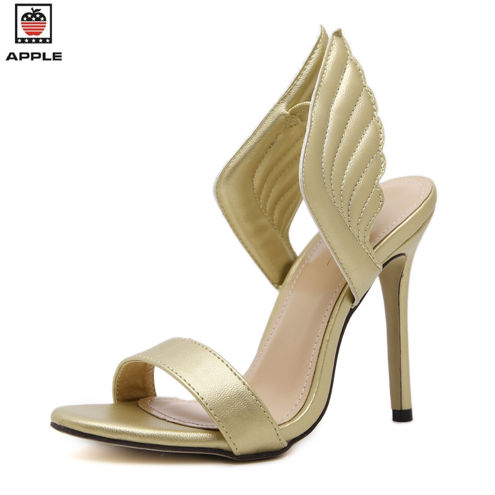 Popular Gold Wing Heels-Buy Cheap Gold Wing Heels lots from China ...