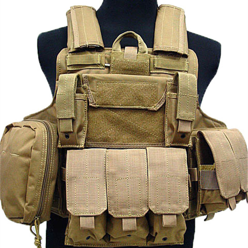 Multi Poches Camouflage Molle Gilet Tactique Airsoft Chasse Tir Gear Combat Magazine Pouch Armure Plate Carrier Vest