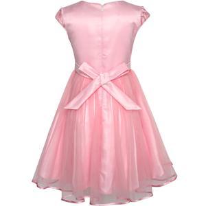 Image 2 - Sunny Fashion Robe Fille Fleur Dimensionnelle En pointe Jupe Reconstitution historique