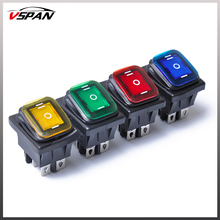 4pcs Waterproof Car Boat On Off 6 Pin 12V LED Light Rocker Switch Universal for DC Power Automobiles interruptor 12v