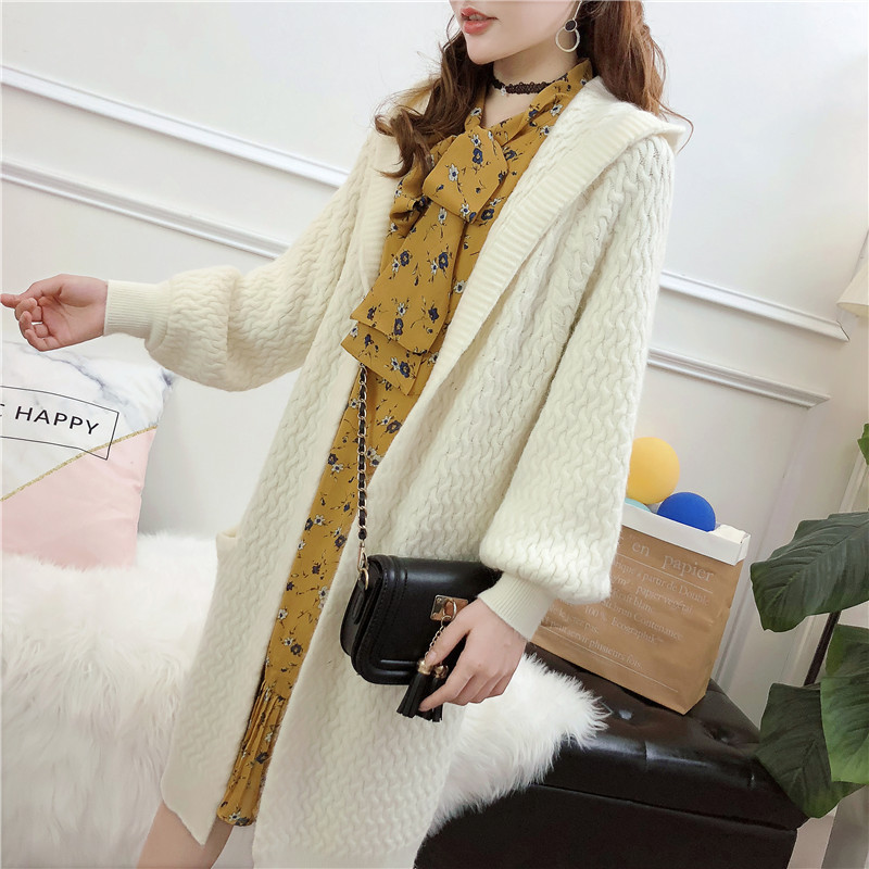 f773040ae07277 Jumper Time limited Fund Sweater Loose Coat Woman 2018 Autumn And Winter  Dress New Pattern Joker Long Sleeve Knitting Cardigan -in Cardigans from  Women s ...