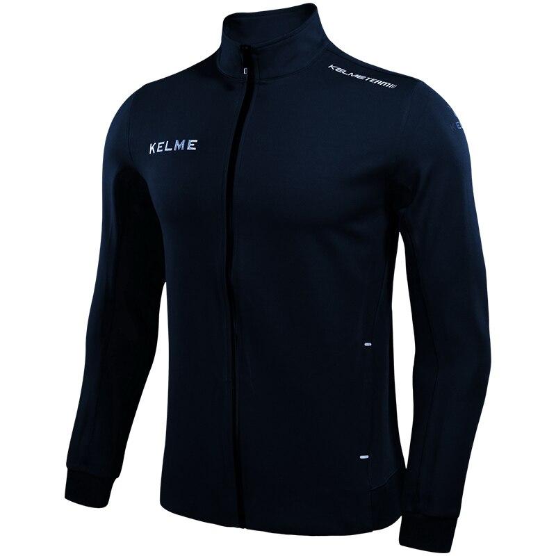 Kelme Men s Soccer Basketball Running Sports Jacket Hoodie Windproof Breathable Training Coat Jacket 3871303