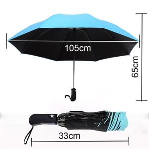 Image 4 - 8 צלעות באופן מלא אוטומטי מטרייה ונשים Windproof 3 מתקפל סאני וגשם רכב גברים של אנטי גשם הפוך הפוך מטריות