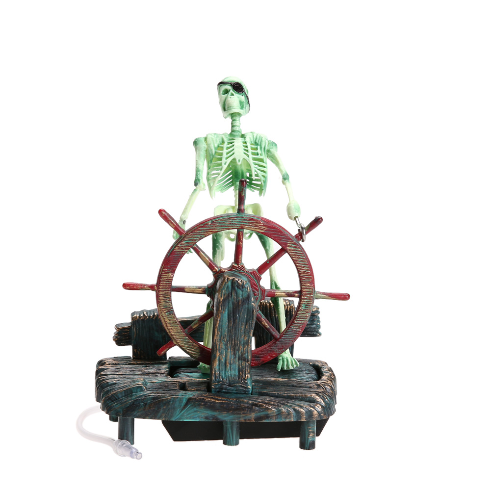 Pirate captain aquarium ornament free shipping worldwide for Large fish tank ornaments