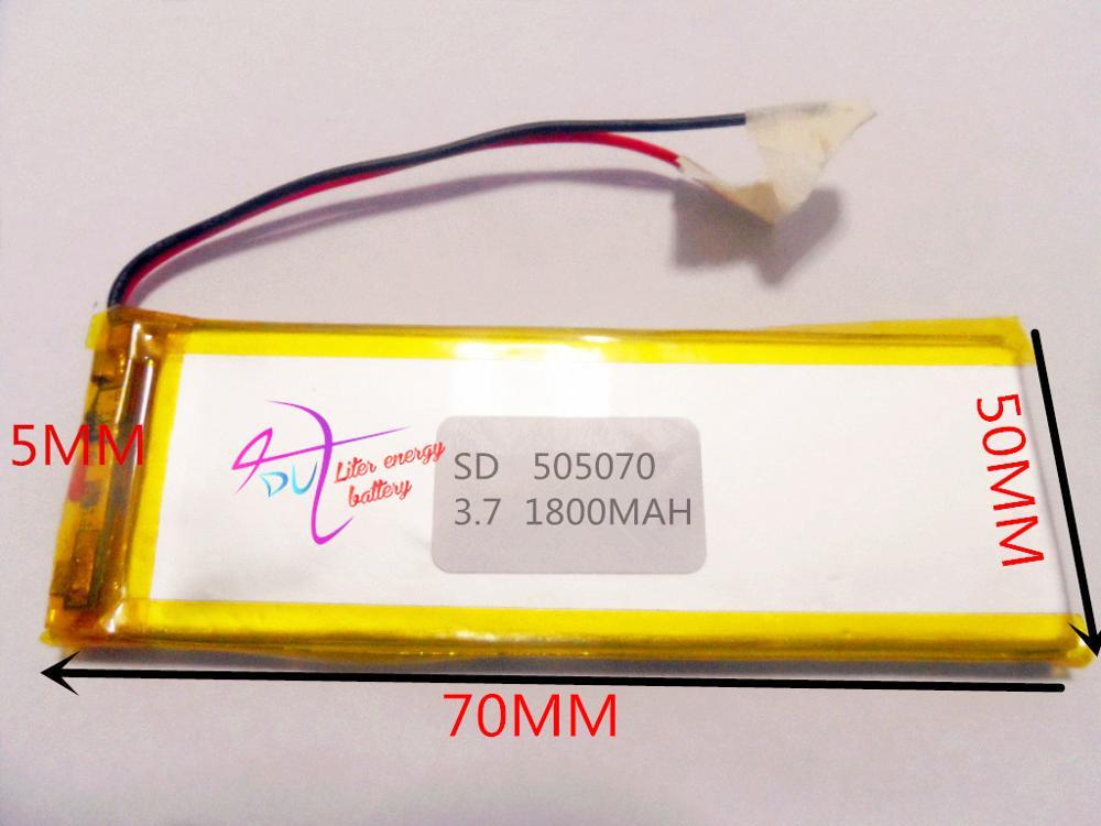 tablet battery 3 7V lithium polymer battery 505070 055070 wireless transmitter 1800mAH eBook