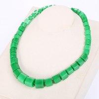 Green Jasper Necklace Big Star Choker Statement Women Square Stone Gemstone Emerald Power Crystal Vintage Balance Jewelry Yoga