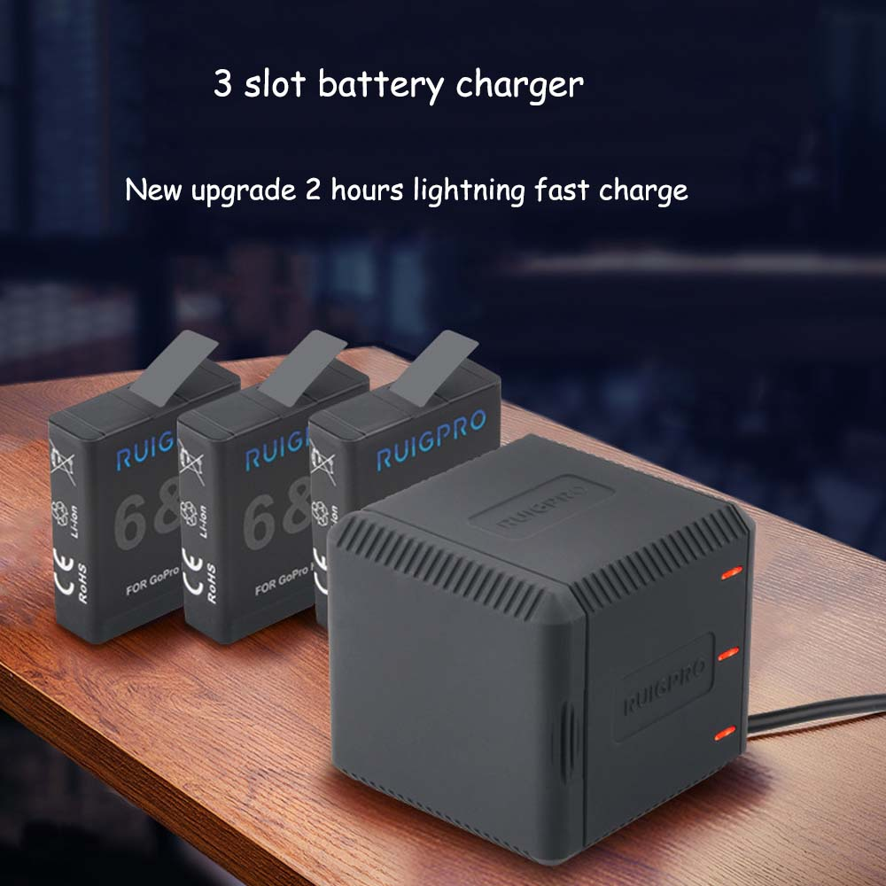 E3633-3 Slot Battery Charger for Gopro6-1