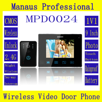 New High Quality 9 Wireless Magnetic Lock Door Phone Doorbell Intercom With Touch Key Camera D24b