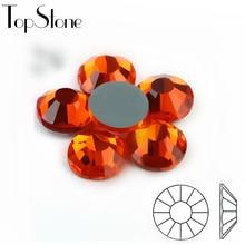 TopStone Hyacinth Orange Hot fix Rhinestones Glass Crystals e80b4959ec7a