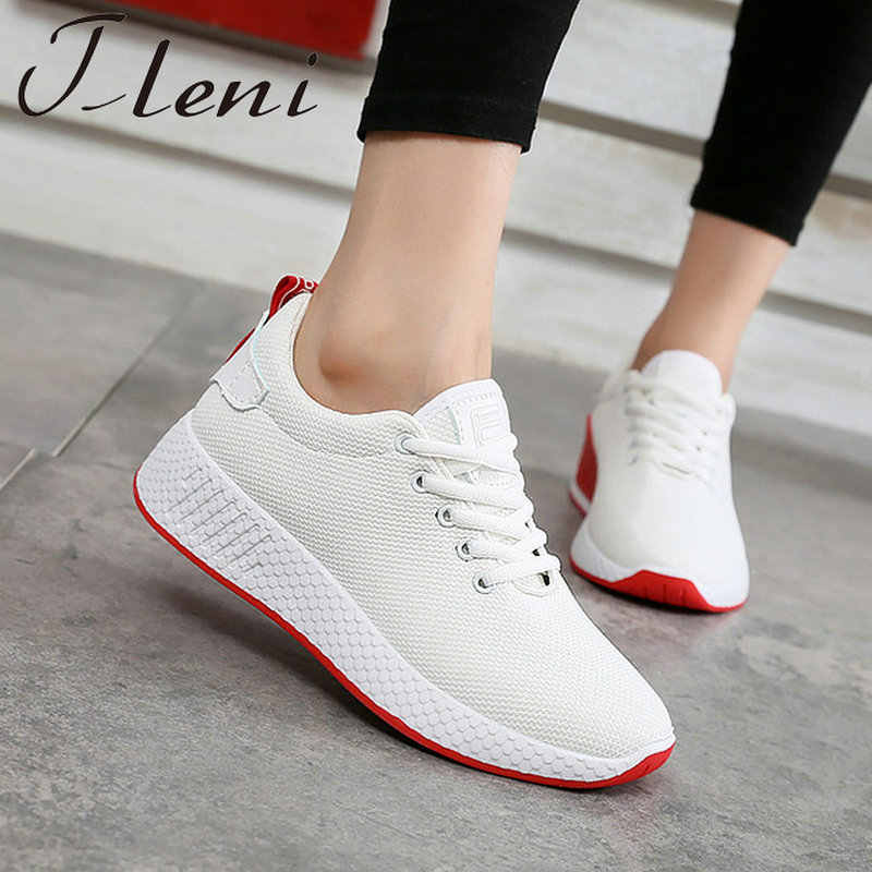 153a4ca9a Tleni Women Sport Shoes Fashion Sneaker Women Shoes Plus size Winter Warm  Off White Women Running Shoes Walking Shoes ZX-08