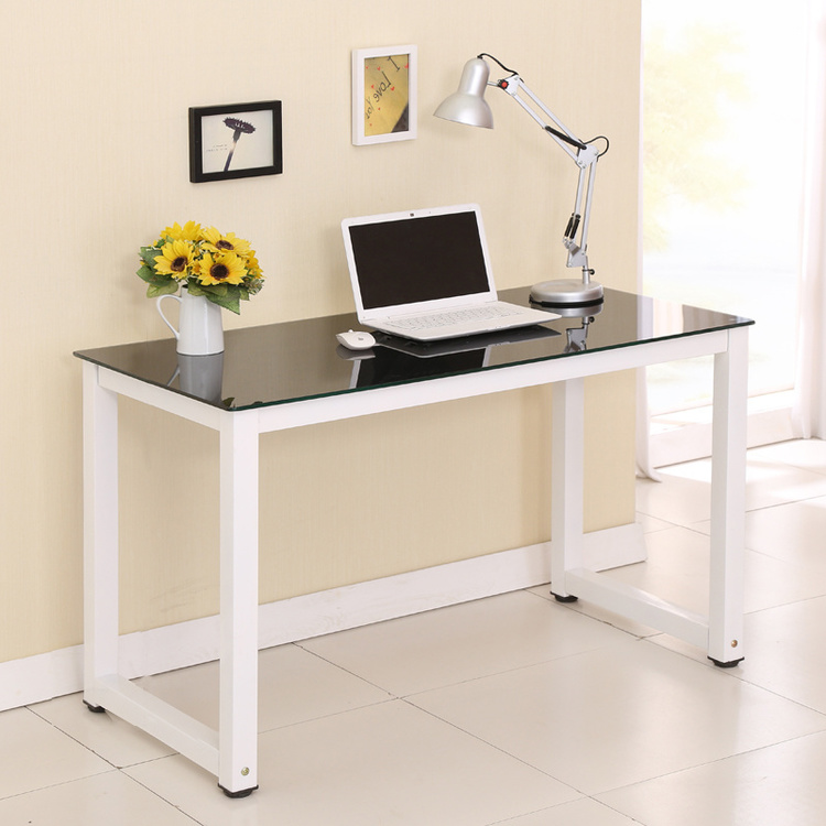 Simple Home Desktop Computer Desk Glass Study Table In Computer Desks From  Furniture On Aliexpress.com | Alibaba Group