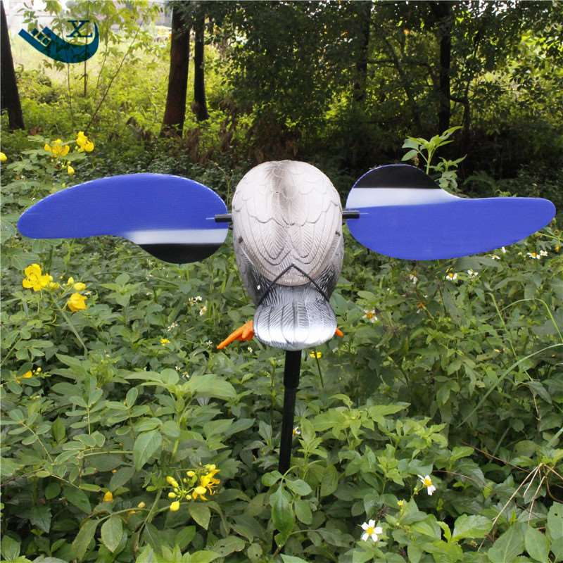 ФОТО Xilei   Factory Directly Sell Dc 6V Remote Control Hdpe Plastic Green Head Decoy Hunting Equipment With Magnet Spinning Wings