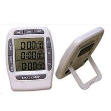 Freies verschiffen, drei kanal digitale elektronische küche timer, timer, LCD timer