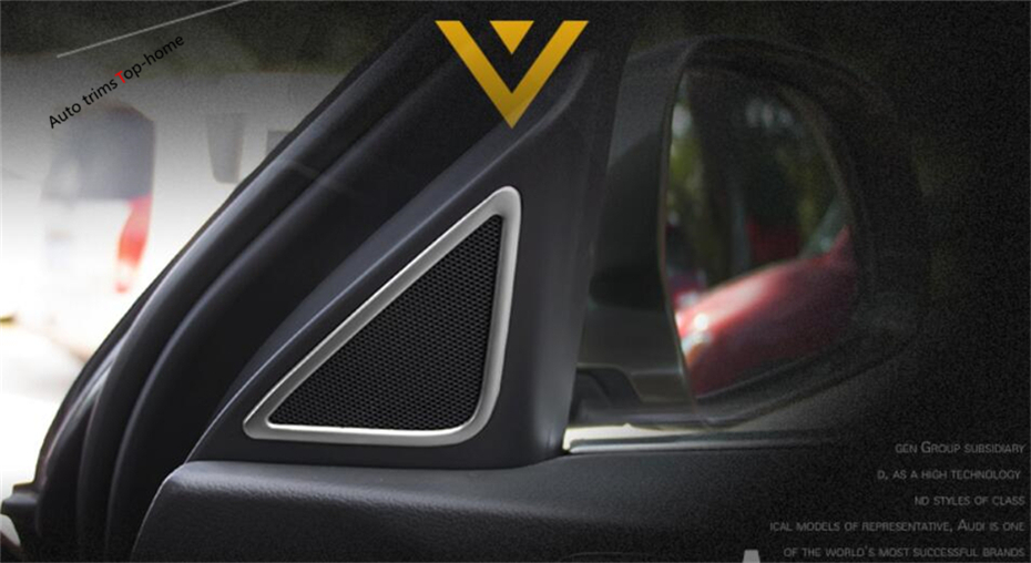 Yimaautotrims Interior Mouldings Pillar AStereo Speaker Audio Loudspeaker Sound Cover Trim For Audi Q3 2013 2014 2015 2016 2017