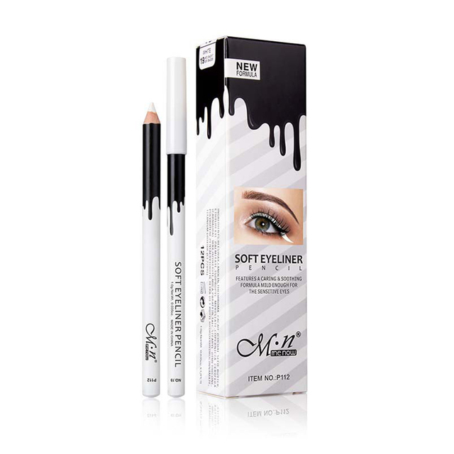 MENOW Brand White Eyeliner Makeup Smooth Easy to Wear Eyes Brightener Eye Liner Pen Waterproof Make Up White Eyes Liner Pencils 1
