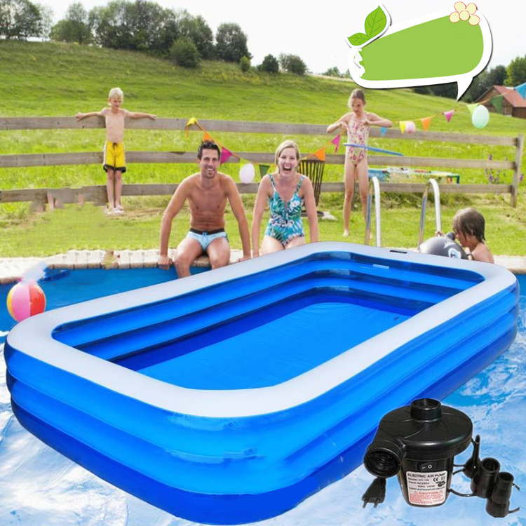 US $126.47 27% OFF 2018 Limited Sale Free Delivery! Adult Swimming Pool  Beightening Thickening Rectangle Fishing Large Child Inflatable Send  Bump-in ...