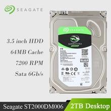 Seagate TB 2 6 Gb/s Internal Hard Disk Drive SATA 7200 RPM 256 MB Cache de Desktop HDD 3.5
