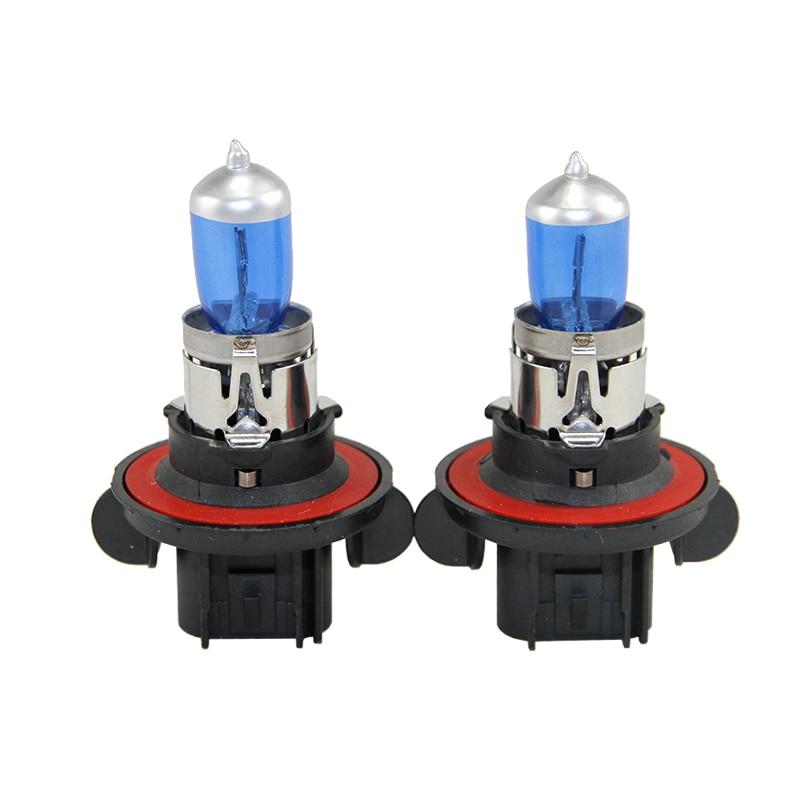 Pair 9008 H13 P26.4t 65/55W Halogen Bulbs Hi/Lo Dual Beam For Car Moto Headlight Fog Lights Parking Daytime Running Light