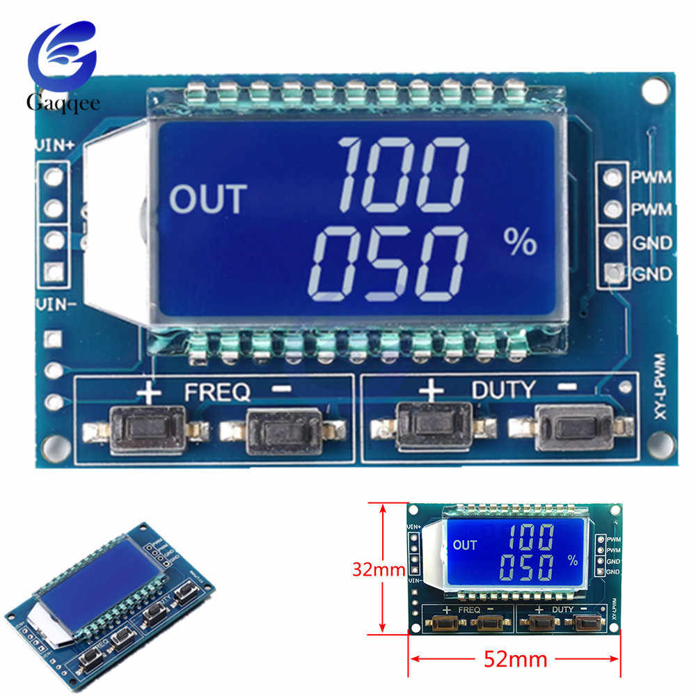 Signal Generator 1Hz-150Khz PWM Pulse Frequency Duty Cycle Adjustable Module LCD Display DC 3.3V-30V PWM Board Module