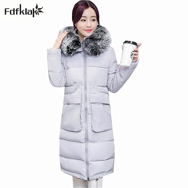 Plus size winter jacket women thickening warm outerwear for women large fur collar female coat parka 4XL manteau femme hiver цены онлайн
