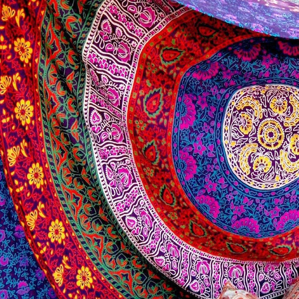 Рукодельный полиэстер скатерть настенный бохо мандала Придверный коврик для пикника винтажный большой индийский гобелен балдахин