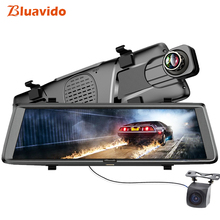 Bluavido 10″ 4G dashcam Android mirror dvr GPS navigation ADAS Full HD 1080P car video recorder with rear view camera Bluetooth