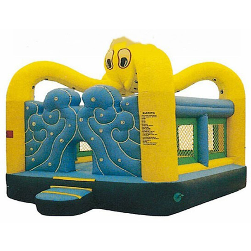 Nouvelle aire de jeux intérieure commerciale populaire d'enfants, équipement d'intérieur de maison de rebond de poulpe jaune à vendre