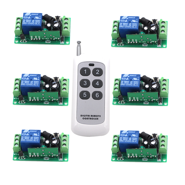 RF Remote Control Switch System DC12V Receiver and Long Range Far Distance Transmitter 315/433MHZ SKU: 5249 small ac220v remote control switch long range transmitter receiver 200 3000m lamp light led remote lighting switch 315 433 92mhz
