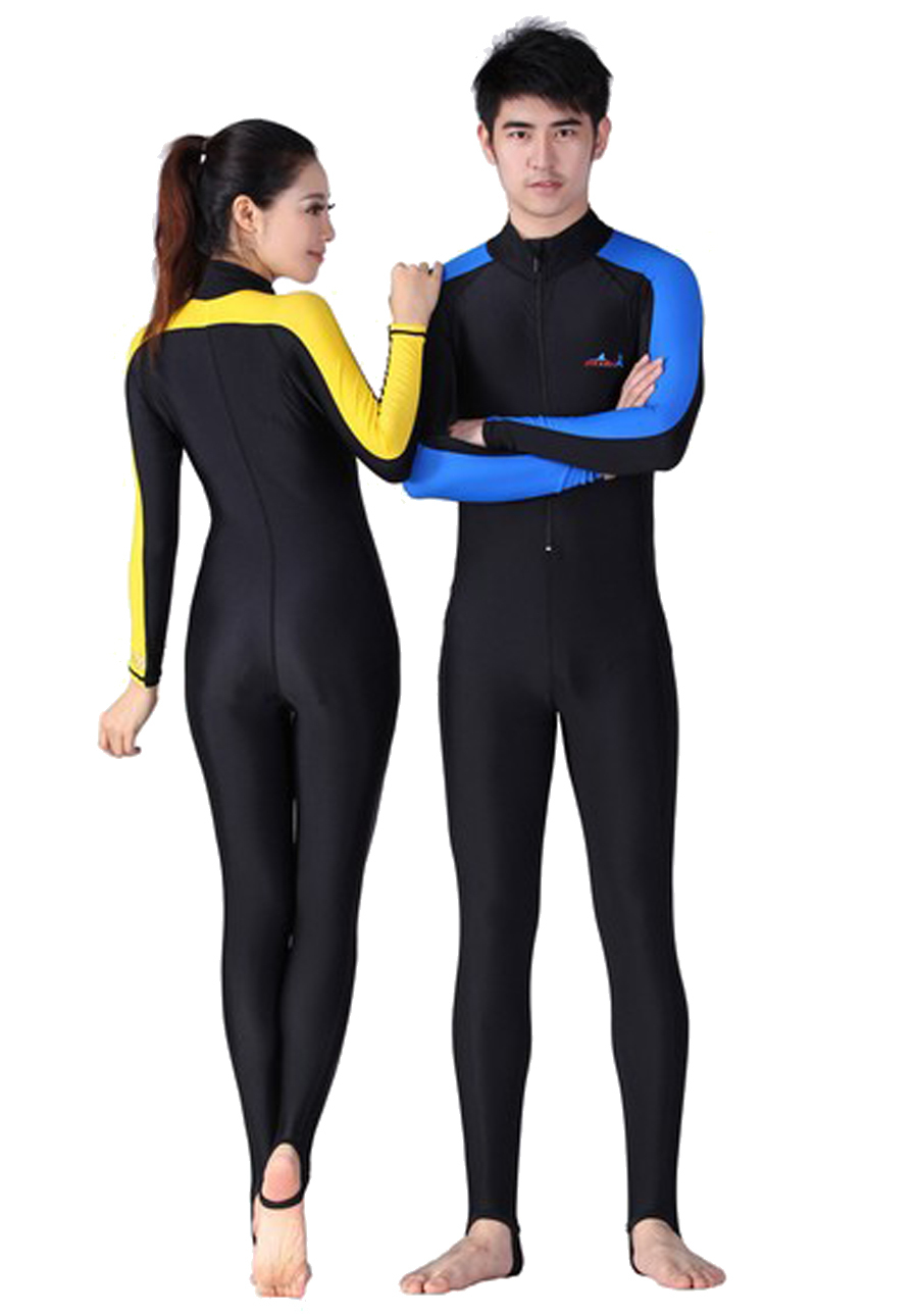 e8d42339b7 Free Shipping Conjoined long sleeved Diving clothes prevented bask in jellyfish  garment snorkeling bathing suit Swimming suit-in Body Suits from Sports ...