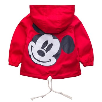 Dulce Amor Kids Mickey Jacket Coat For Boys Girls Autumn Hooded Cute Windbreaker Children Fall Outerwear Baby Boys Girls Clothes