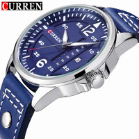 Mens Watches Top Brand Luxury CURREN 8224 Military Sport Quartz Watch Men Casual Leather Strap Wrist