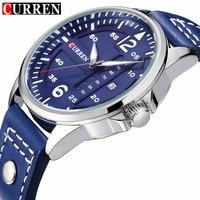 Mens Watches Top Brand Luxury CURREN 8224 Military Sport Quartz Watch Men Casual Leather Strap Wrist