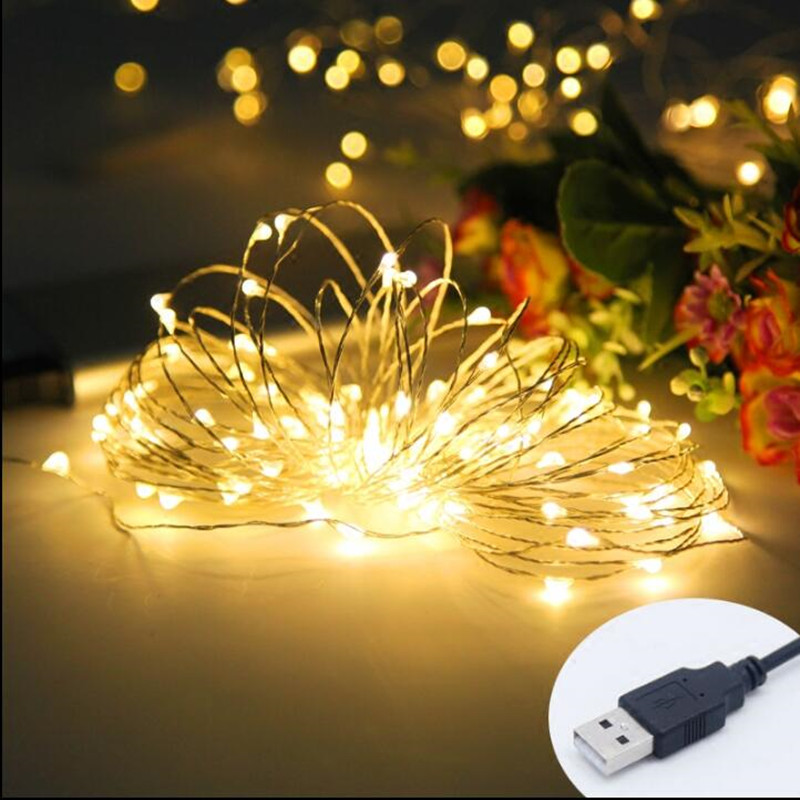 LED String Light 10M 100led USB Holiday Light 5V Waterproof Cooper Wire Fairy Lights ChristmasWedding Garden New Year Decoration