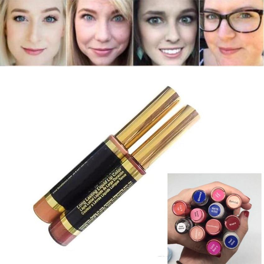 Cosmetici Lip Senso di Lunga Durata Liquido Rossetto Colore Delle Labbra Gloss di Sidro di Mele Nappa Perla Lucido Lucido Ooops Remover Impermeabile 12