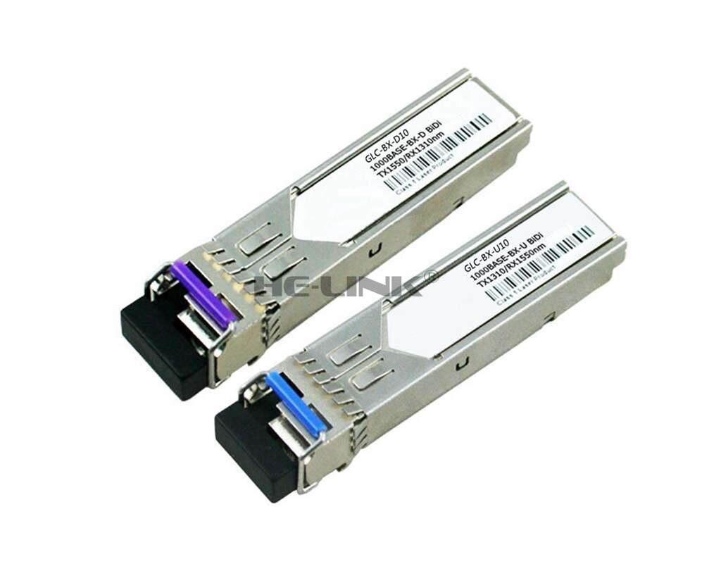 LODFIBER GLC-BX-U10/GLC-BX-D10 CISCO Compatible 1.25G 1310/1550nm BiDi 10km TransceiverLODFIBER GLC-BX-U10/GLC-BX-D10 CISCO Compatible 1.25G 1310/1550nm BiDi 10km Transceiver