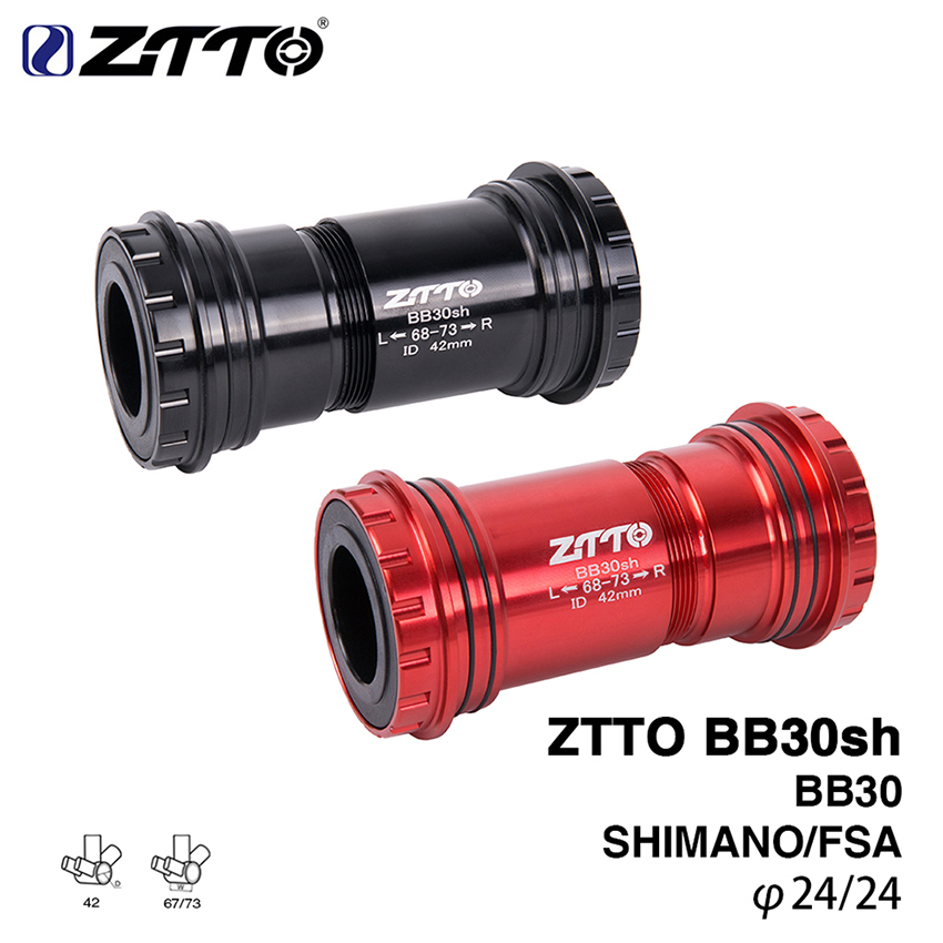 ZTTO BB30sh BB30 24 Adapter MTB Road Bike Bicycle Press Fit Bottom Brackets Cycling Axle For Shimano FSA Prowheel 24mm Crankest