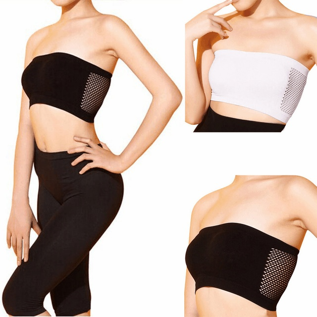 a6f055f7bf Women bras Spandex Lycra girl shirts Strapless headband sujetador hollow  Breathable Girl brassiere bandeau soutient gorge