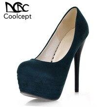 acc6d91930e10 Coolcept 4 Cor Mulheres Stilettos Sexy Finos Sapatos de Salto Alto Mulheres  Partido Boate Passarela Mostrar