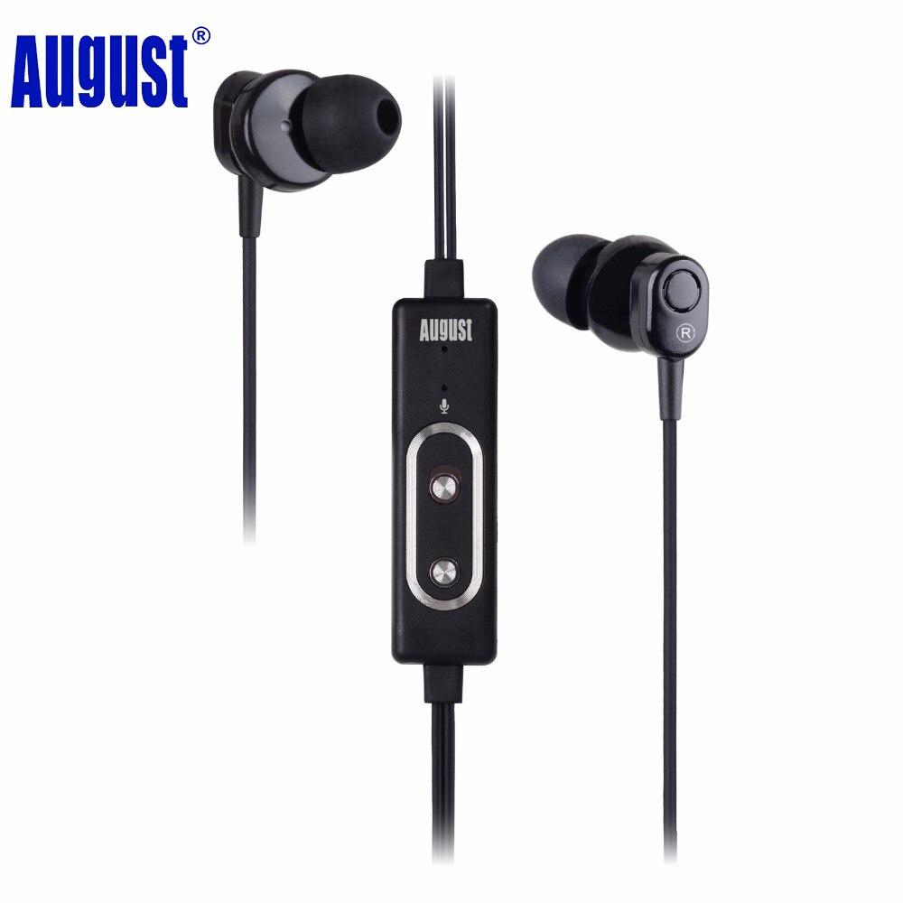 August ep715 cna estéreo de alta fidelidad en la oreja los auriculares de cancel