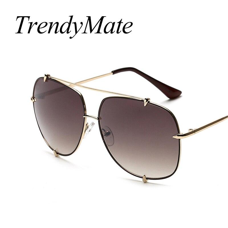 2017 Men Brand Designer Vintage Pilot Sun Glasses for Male Oversized Shades Retro Female Steampunk Sunglasses Gafas Oculos 485M 3