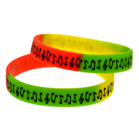 1PC New Design Music Note Silicone Wristband Bracelet For Student 2Colours Available